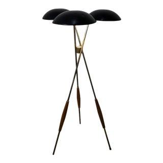 Gerald Thurston Lightolier Tripod Floor Lamp 1950's