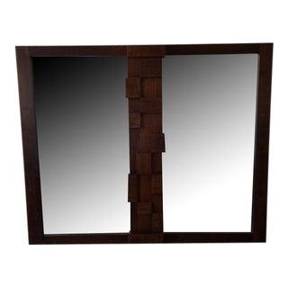 Lane Vintage 70's Brutalist Mirror
