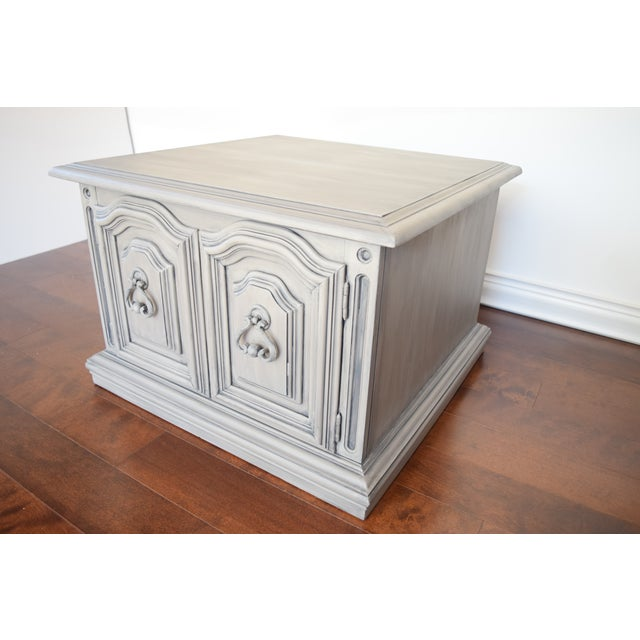 Square French Linen Coffee Table Chairish