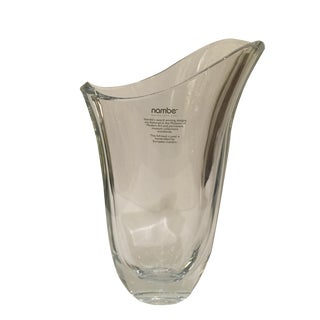 Nambe Modern Abstract Glass Vase