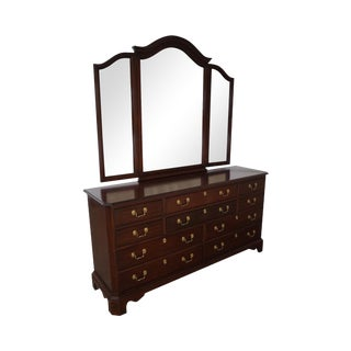 Harden Mahogany Chippendale Style Dresser & Tri Fold Mirror