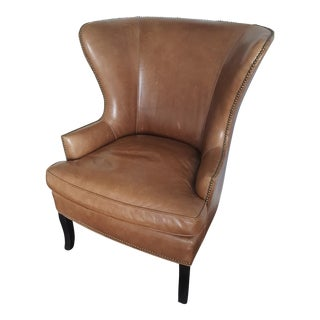 Williams-Sonoma Leather Chelsea Wing Chair