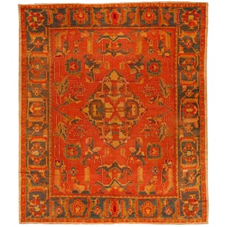 Antique Mid-19th Century Turkish Oushak Carpet