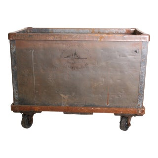 Vintage Industrial Green Steel Rolling Cart