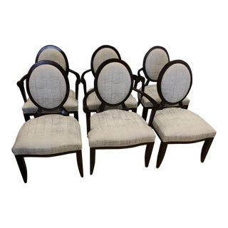 Barbara Barry for Baker Oval X Back Dining Chairs - Set of 6
