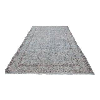 Oushak Turkish Handmade Gray Carpet - 6′5″ × 10′7″
