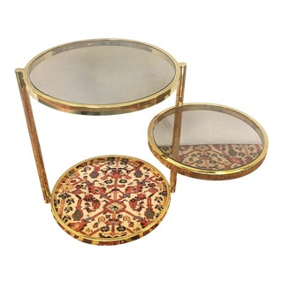 Mid-Century Reticulating Brass Side Table