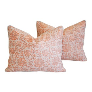 Designer Italian Fortuny Cimarosa Feather/Down Pillows - a Pair