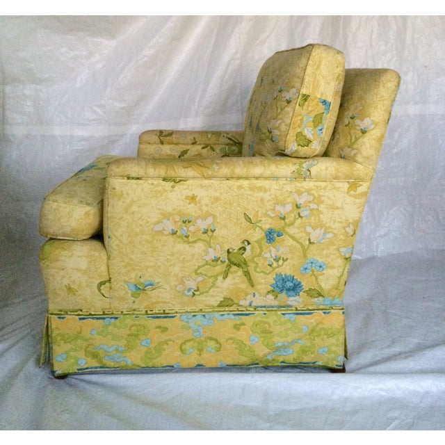 Floral Print Club Chairs by Century - A Pair - Image 4 of 7