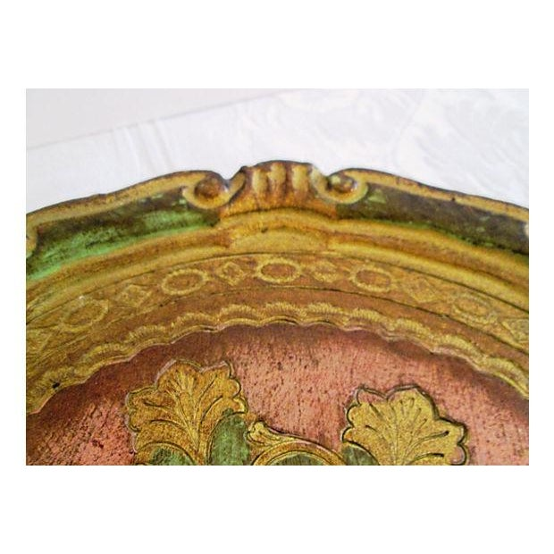 Italian Rose & Green Wood Letter Tray - Image 5 of 6
