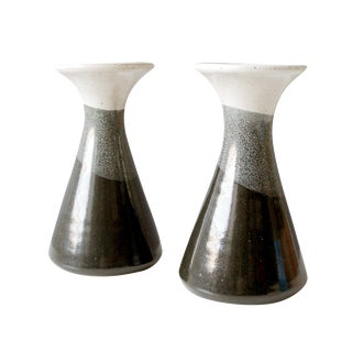 Vintage Ceramic Candle Holders - A Pair