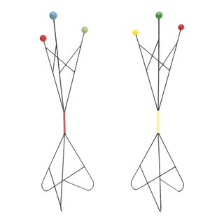 Pair of Modernist Coat stands