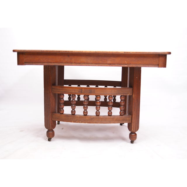 Antique Stick & Ball Dining Table - Image 2 of 7