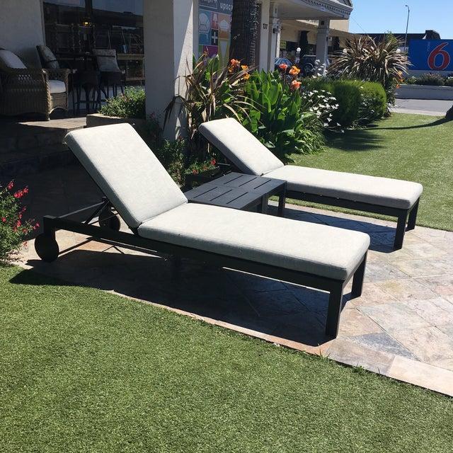 Restoration Hardware Aegean Chaises Lounge & Tables Set - Image 5 of 11