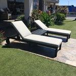Image of Restoration Hardware Aegean Chaises Lounge & Tables Set