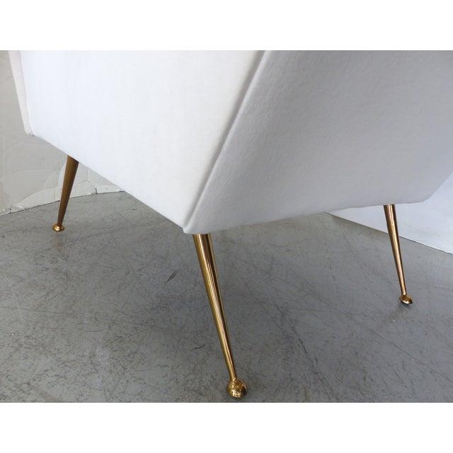 Image of 50's Italian Modern Club Chair in Velvet