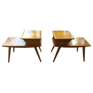 Vintage Heywood-Wakefield Side Tables - Pair