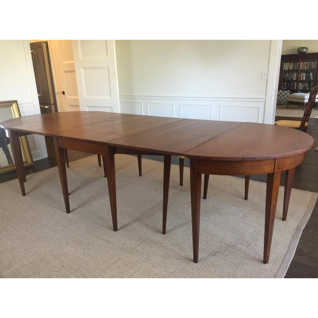 Vintage mahogany expandable dining room table chairish for Mahogany dining room table