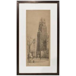 Presentation Drawing of American Radiator Building in New York by Raymond Hood