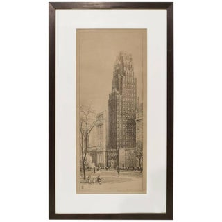 Presentation Drawing of American Radiator Building in New York by Raymond Hood