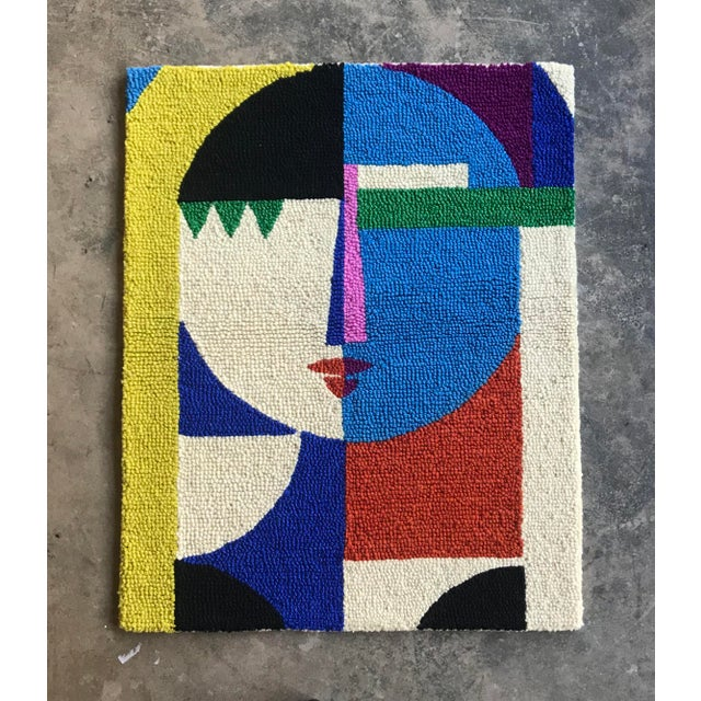 Limited Edition Female Abstract Color Block Rug Wall Hanging Textile - Image 6 of 6