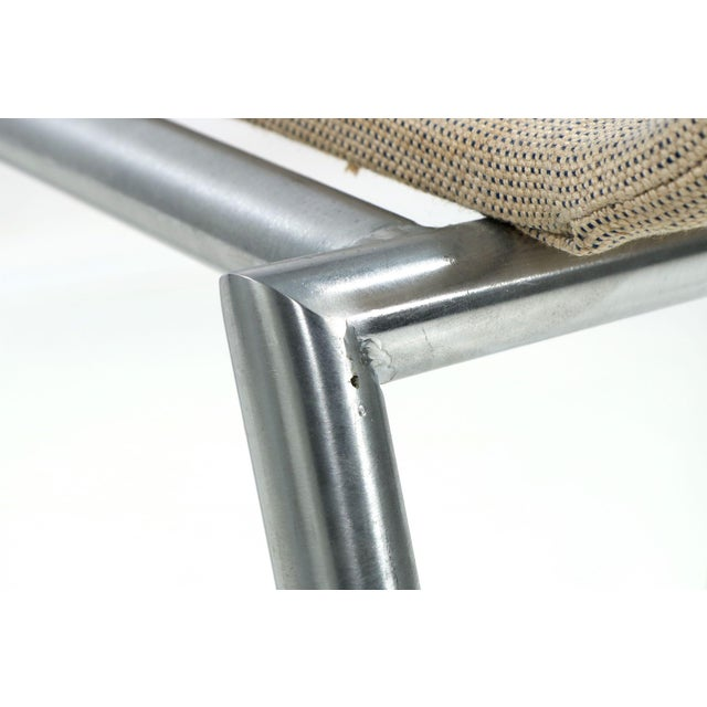Danish Modern Brushed Steel Side Chair by Kvist - Image 9 of 11