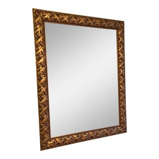 Gold Framed Beveled Mirror