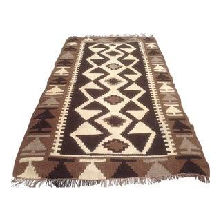 Vintage Anatolian Kilim Rug - 3′5″ × 5′9″