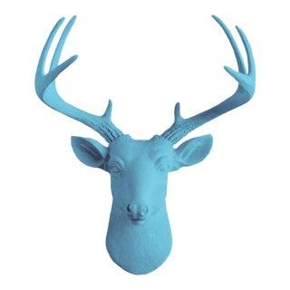 Wall Charmers Blue Faux Taxidermy Mini Deer Head Mount
