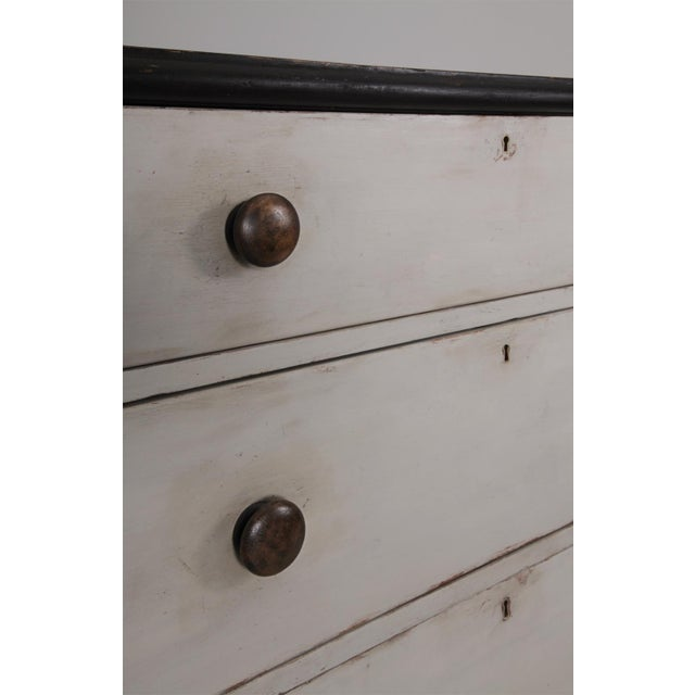 Antique English Country Painted Pine Chest of Drawers - Image 4 of 8