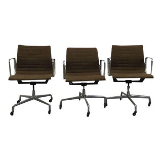 Herman Miller Eames Aluminum Group Office Chairs - Set of 3