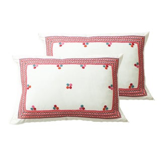 Chiapas Embroidered Pillow Cover - Pair
