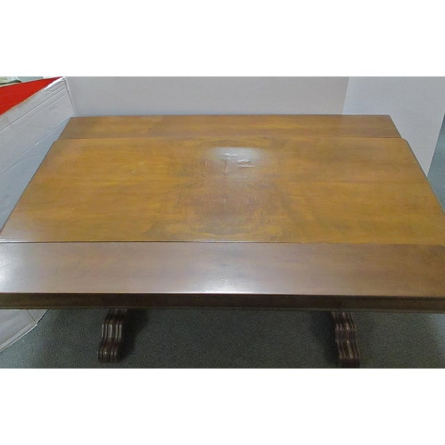 Expandable Walnut Library Table - Image 5 of 8