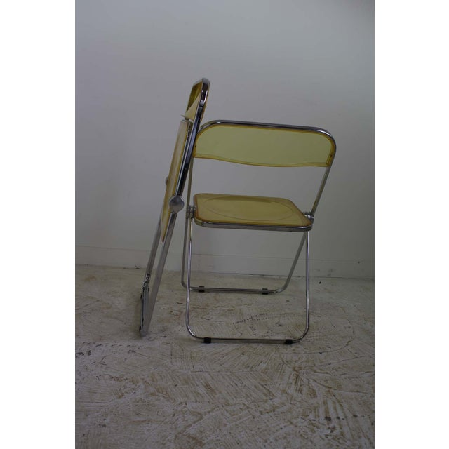 Image of Castelli Plia Lucite Folding Chairs - A Pair