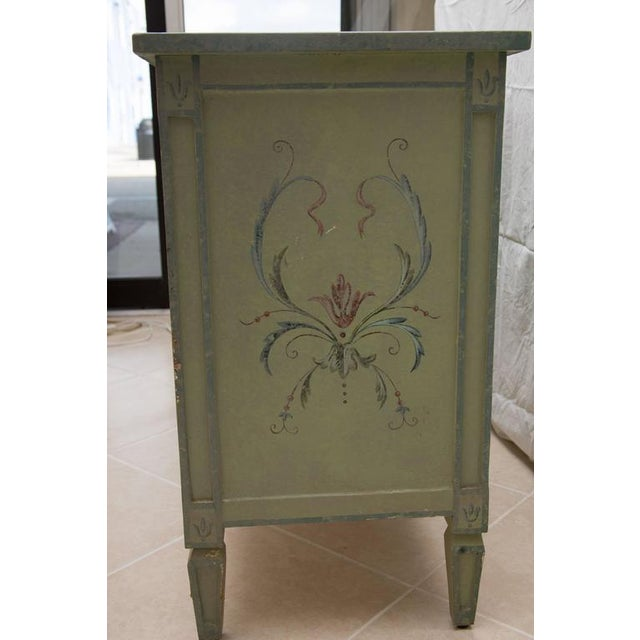 19th Century American Continental Green-Painted Chest - Image 4 of 9