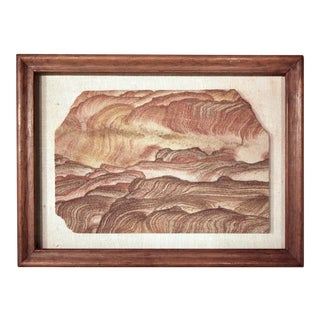 "Mounted & Framed Natural ""Landscape Jasper"" Stone Fragment"