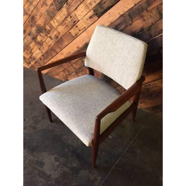 Mid-Century Danish Walnut Sculpted Arm Chair - Image 8 of 9