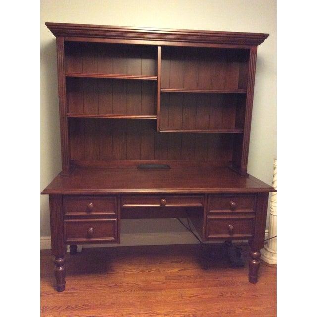 Ballard Designs Wooden Desk With Hutch - Image 6 of 6