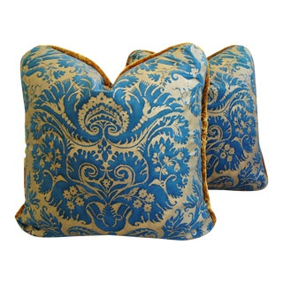 Italian Mariano Fortuny Demedici Feather/Down Pillows - a Pair
