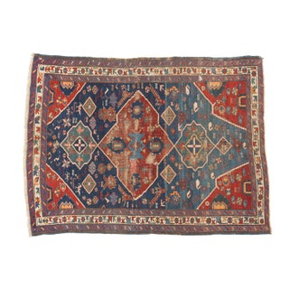 "Antique Distressed Seichor Kuba Rug - 3'10"" X 5'2"""