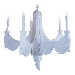Sirmos Chandelier with Draped Fabric Design, circa 1970s