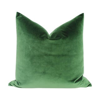 Emerald Green Italian Velvet Pillows - A Pair