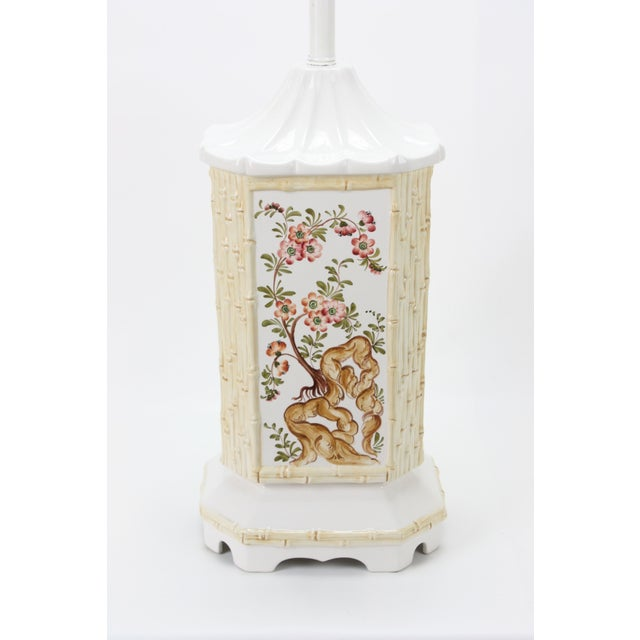 Mid-Century Ceramic Chinoiserie Lamp - Image 4 of 5