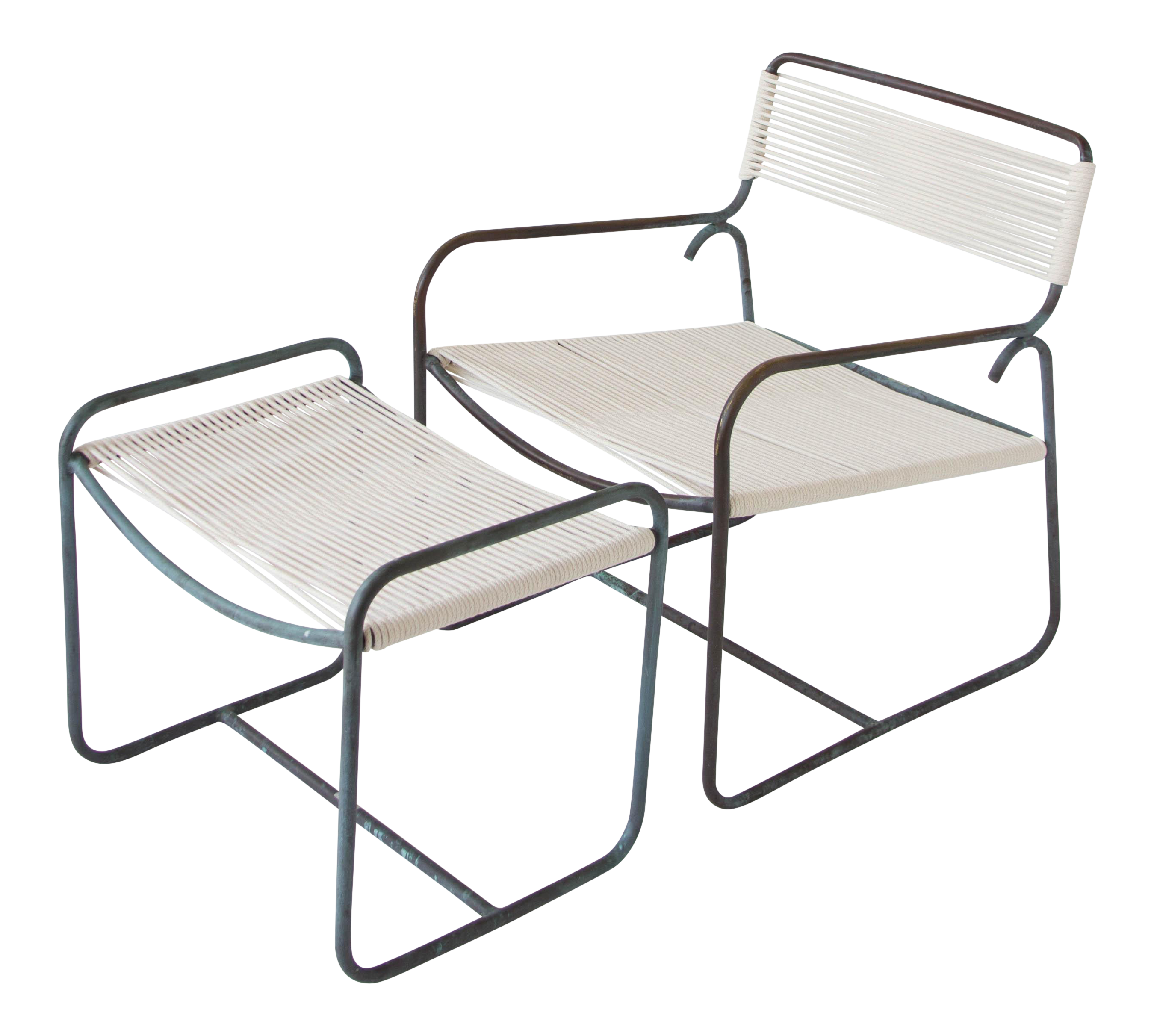 single walter patio lounge chair and ottoman set