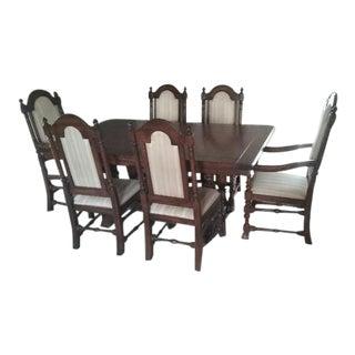 Ethan Allen Royal Charter Oak Collection Dining Set - Set of 7