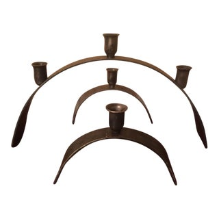Bent Metal Candle Holders - Set of 3