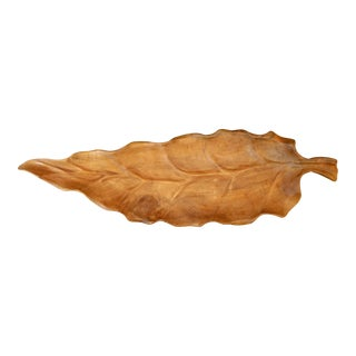 3' Long Teak Banana Leaf Bowl
