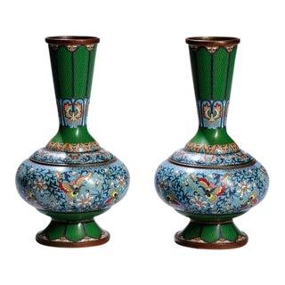 Vintage Chinese Cloisonné Vases - A Pair