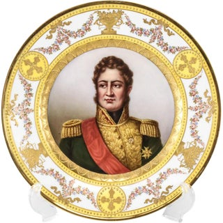 Royal Vienna Style Hand Painted Plate of Louis Philippe, King of France, 1900