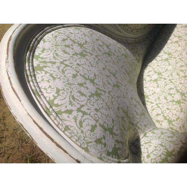 Image of Antique Newly Upholstered Settee